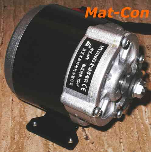 Spur gearing electric motor DC 350W 24V/36V 10,8Nm 330rpm