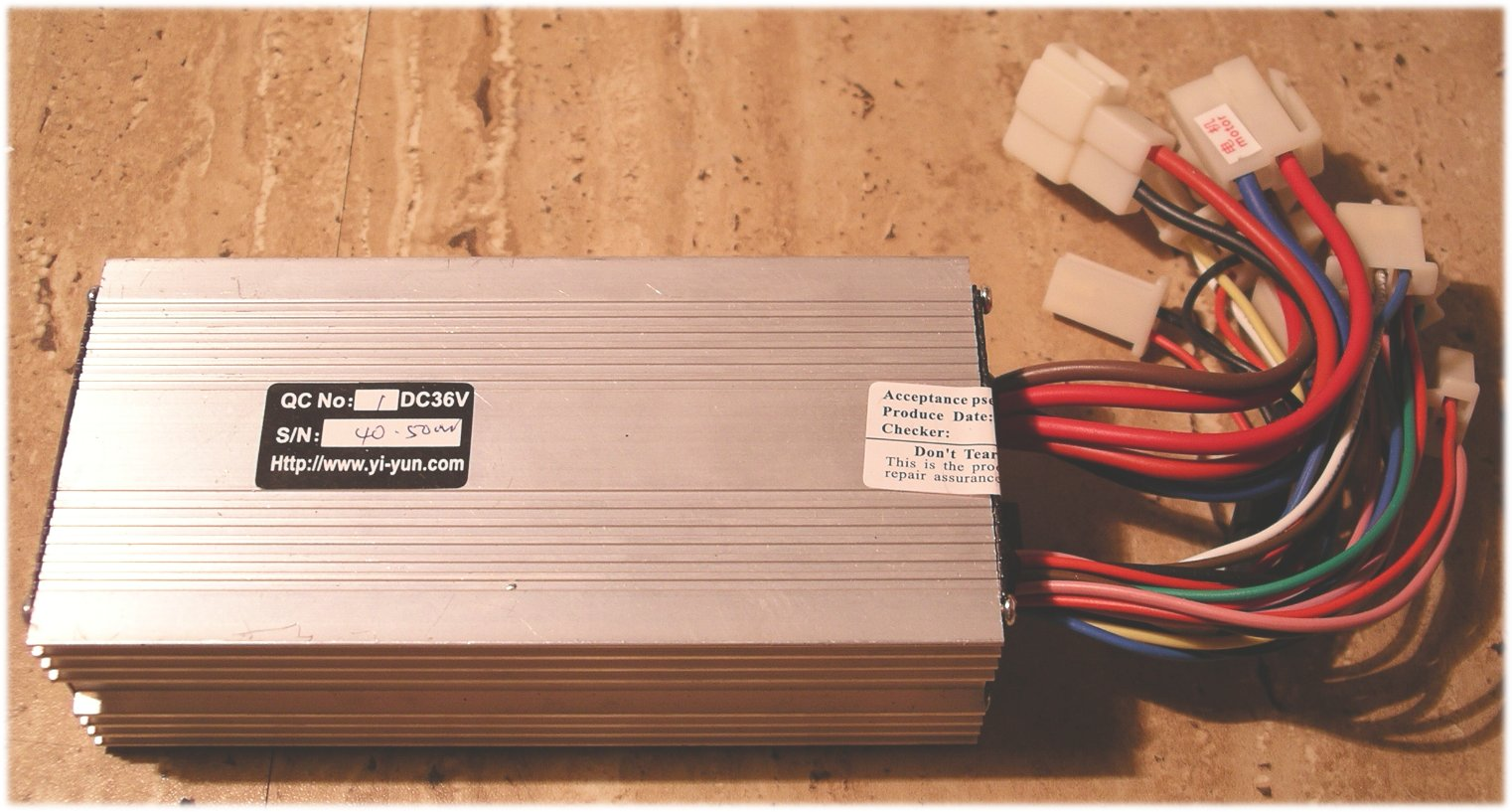 Golf Cart Dimensions >> Controller Yiyun LB65A for 2 e-motors 2x250W 36V 20A