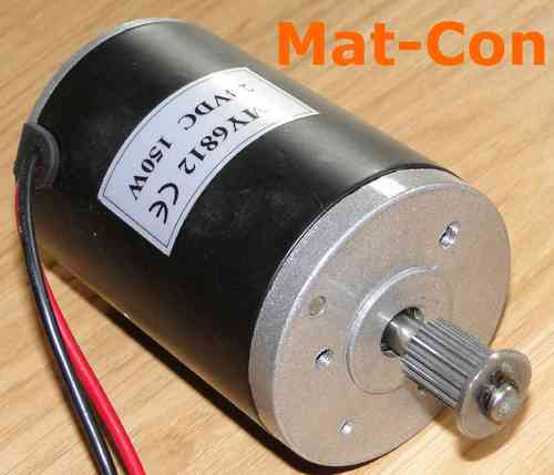 E-Motor Unite MY6812GR 150W 12V DC with belt pulley