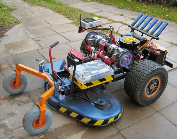 Rc Motor Fernsteuerbarer Rasenmher Mit Motorsteuerung