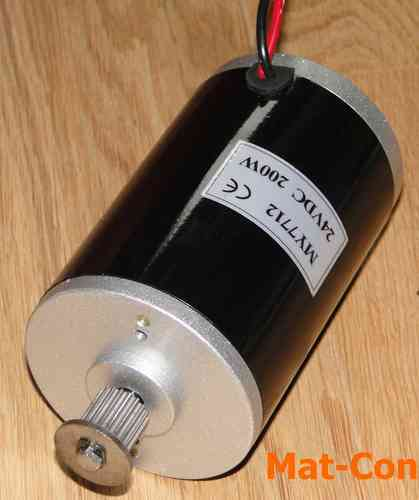 E-Motor Unite MY7712N 200W 24V DC with belt pulley