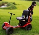 Transportable golf cart with electric drive