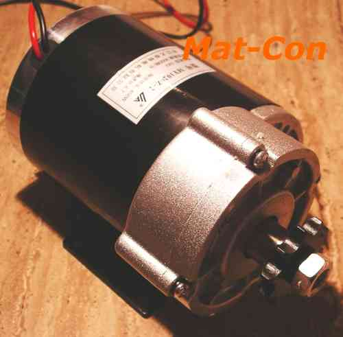 Spur geared e-motor Unite MY1020Z2 500W 24V 12,6Nm 375rpm