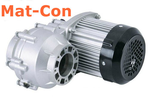 E-Car AC motor PMS 48-144V, differential/rigid transaxle/swing axles